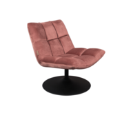 BAR LOUNGE CHAIR  - Fluweel Old Pink