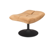 BAR LOUNGE HOCKER  - Fluweel Golden Brown