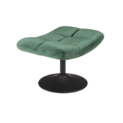 BAR LOUNGE HOCKER  - Fluweel Green