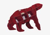 Ibride - Boekenkast rood - JOE