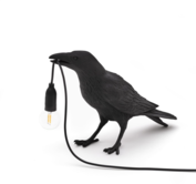 SELETTI - Bird lamp black - Waiting