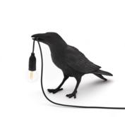 SELETTI - Bird lamp black - Waiting