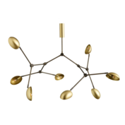 101 CPH - DROP Chandelier brass