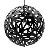 Lamp Floral 40cm Zwart