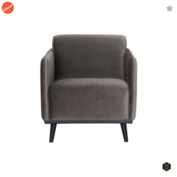 BEPUREHOME - Statement Fluweel Taupe - Fauteuil