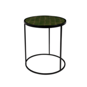 ZUIVER - Glazed Side Table Green