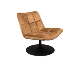 BAR LOUNGE CHAIR  - Fluweel Golden Brown