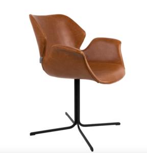 Zuiver - stoel Nikki -  All Brown