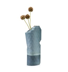 Paper Vase Cover Watercolor Blue SMALL