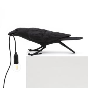SELETTI - Bird lamp black - playing