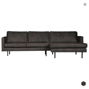 RODEO - Zwart - Chaise Longue rechts