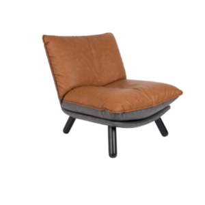 ZUIVER - Lazy Sack Lounge Chair - Cognac