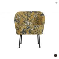 BEPUREHOME - VOGUE fauteuil fluweel - Poppy mosterd