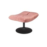 BAR LOUNGE HOCKER  - Fluweel Old Pink