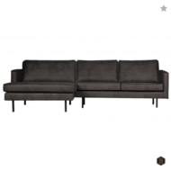 RODEO - Zwart - Chaise Longue links