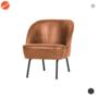 BEPUREHOME - VOGUE fauteuil leer - Cognac
