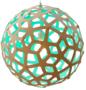 Lamp Coral met kleur 60 cm