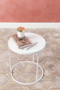 GLAZED SIDE TABLE - White