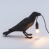 SELETTI - Bird lamp black - Waiting_